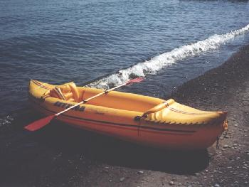 Kayak on Lake Erie